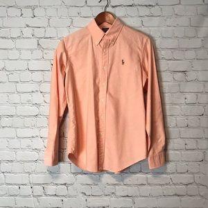 EUC Ralph Lauren Orange Classic Fit Button Down